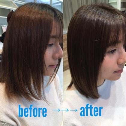 髪質改善トリートメント+小顔カット+ダメージレスカラー