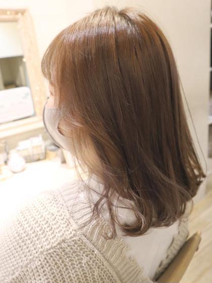 《カット》+《艶カラー》+《毛髪補修トリートメント》