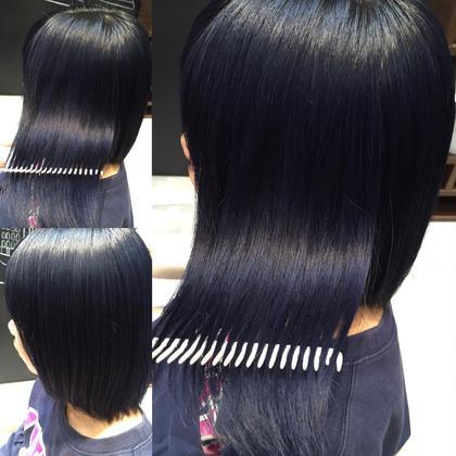 カラー ミディアム ツヤ髪❤︎ ブルーブラック❤︎