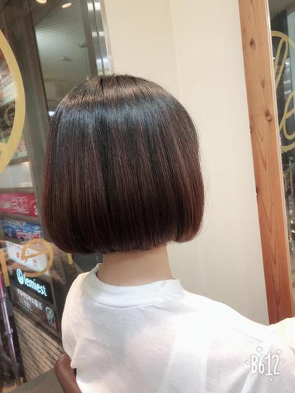 ショートボブ  yu。のショートのヘアスタイル