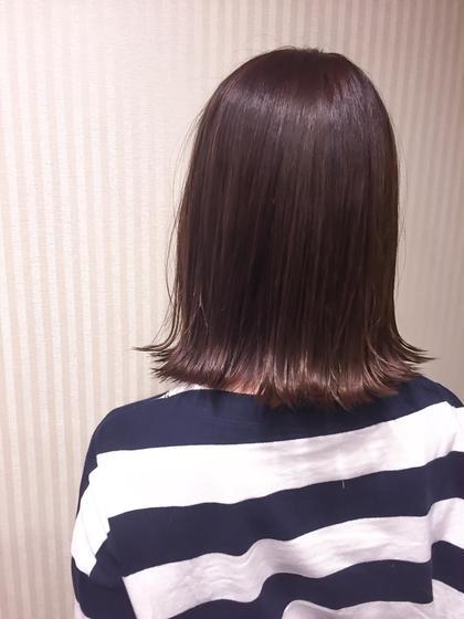 カラー ショート ミディアム berry chocolate brown