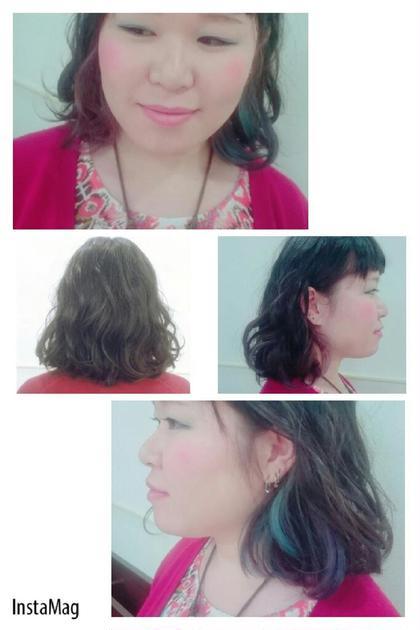 夏に向けてのポイントカラー♡ KENJE南林間所属・芳賀百恵のスタイル