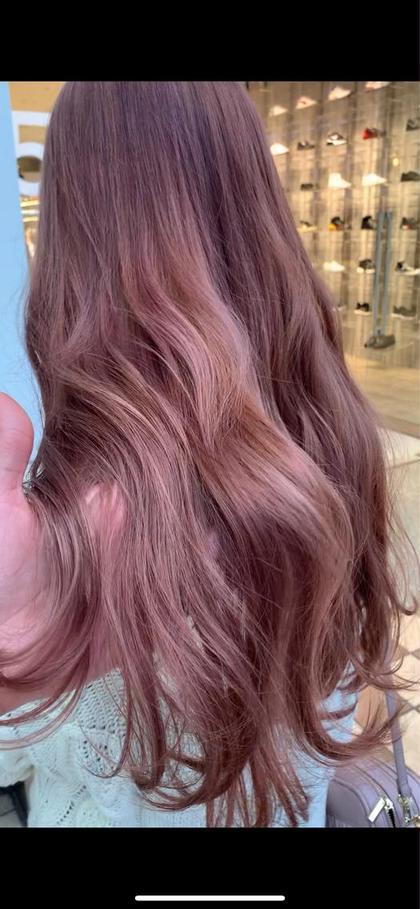 ❣️【ピンク系にしたい方】ダブルカラー(ケアブリーチ)➕メンテナンスカット(前髪カットも可)➕うる艶トリートメント