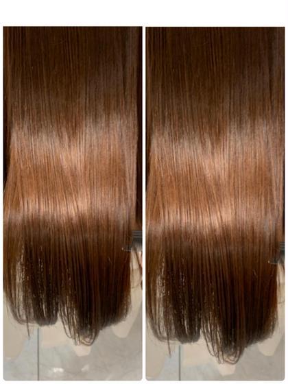 学割U241日1名様限定⭐️髪質改善ノンダメージ縮毛矯正&内部補修トリートメント&スタイリングブロー