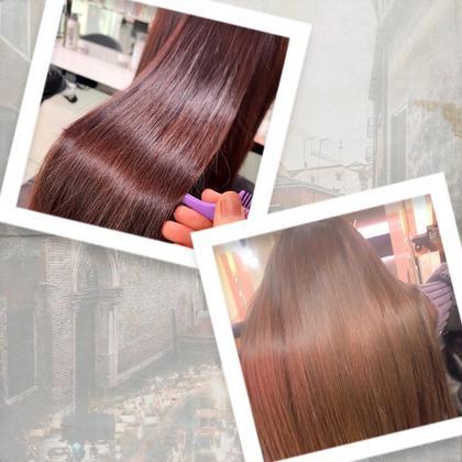 🍯人気NO.1🍯ダメージケア✨カット&カラー&酸熱トリートメント💖髪質改善トリートメントで✨艶カラーに❤️