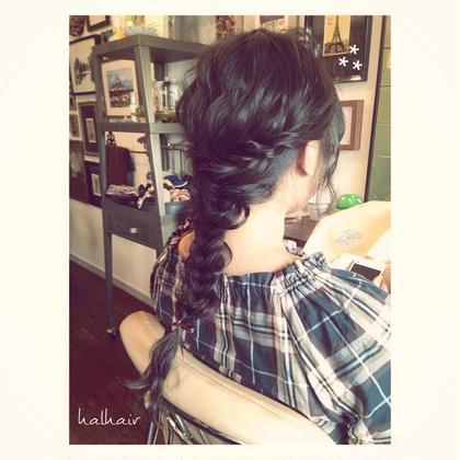 ゆるっとふわっとフィッシュボーン⁂ chouette HairMake&HeadDress所属・サダハルカのスタイル