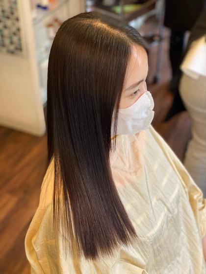 しっとりまとまる驚きの仕上がり✨髪質改善縮毛矯正&艶トリートメントコース【メンテナンスカット込み】