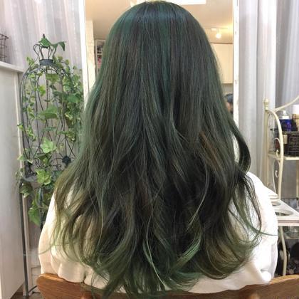 その他 カラー セミロング ミディアム ロング ダブルカラー!! Greencolor☆☆☆