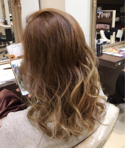 ✨ブリーチはしたくない方✨カット & グラデーションカラー《ブリーチ無し》&外国人風カラー & 髪質改善トリートメント