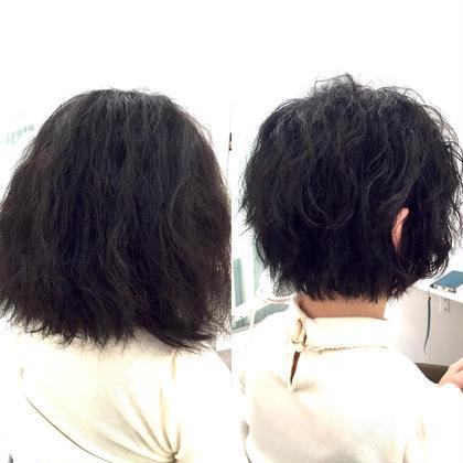 くせ毛を生かすカット+トリートメント