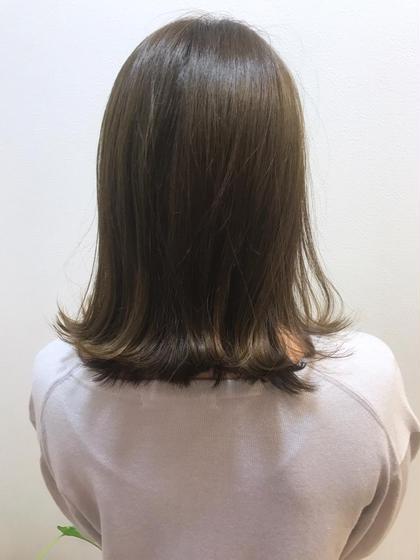 頭皮から髪先までスッキリ‼️極潤ヘアカラー & トリートメント & 炭酸スパ