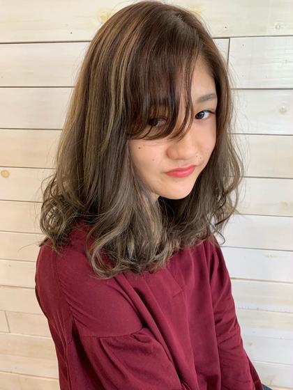 人気No.2☆ポイントカラー(インナーカラー、ハイライトetc)
