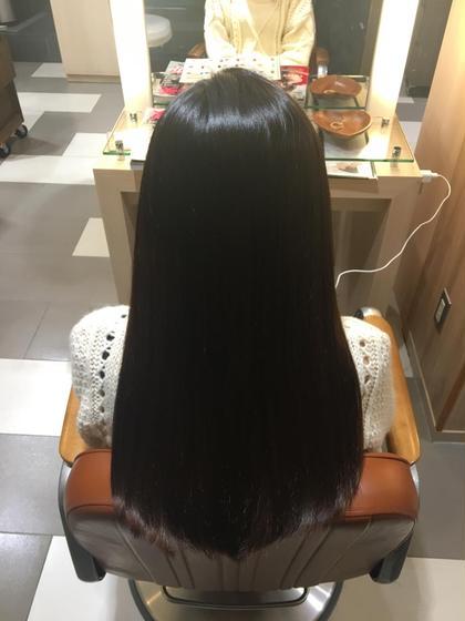 カラー パーマ ロング 縮毛矯正✨