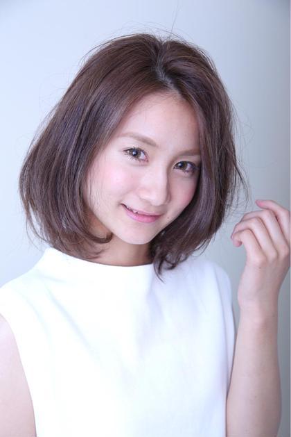 クールな大人ボブ 流行りのかけあげた前髪がポイントのボブで女子力 120%UP♬ epris所属・勝本展領のスタイル