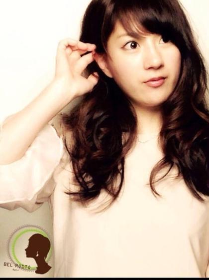 艶感重視のシルクカラー (><)♡ BEL POSTOのカラーは 毛先まで艶感を更に 引き出します♪ BEL POSTO hair所属・吉岩佳亮のスタイル
