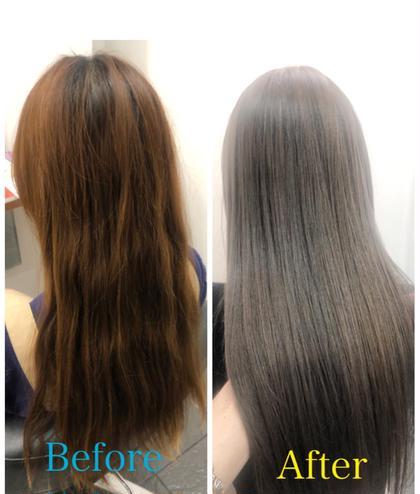 髪質改善サイエンスアクアで髪を綺麗にしてイルミナカラーで赤みの無いアッシュカラーにして更にトリートメントとカットで綺麗に✨✨ 贅沢メニューです💪🌈