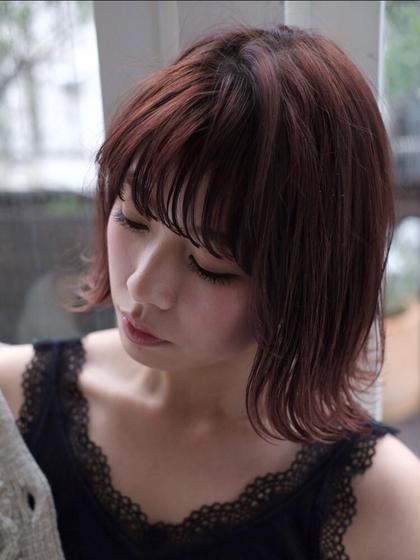 コテ巻き付き💛💜似合わせ前髪カット💜💛