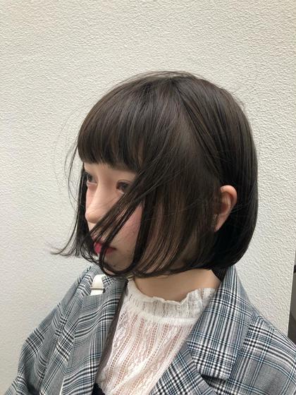 《当日限定》カット/カラー/トリートメント¥4500