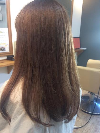 色ムラのブリーチ毛を修正。アッシュベージュ仕上げ。 HAIR LA SETTA所属・瀬田勇一のスタイル