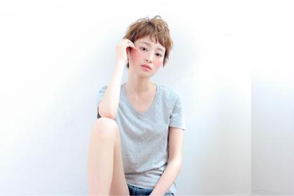 ショートは束間でつくるベビー前髪ショート♡ raffine所属・土屋健司のスタイル