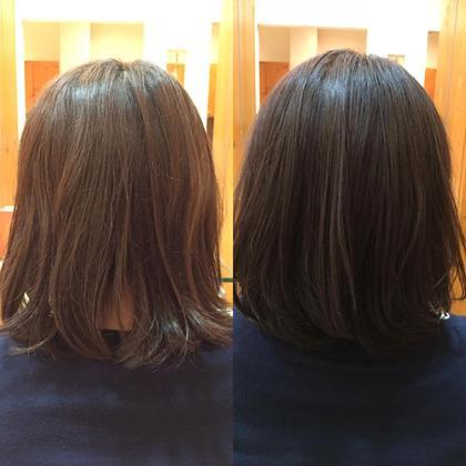 色味が抜けた髪色にアッシュ系で沈めました。 透明感とツヤ感がいい感じです! equri不動前所属・井上友哉のスタイル