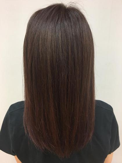 #グラデーションヴァイオレット #パーソナルカラー #暖色 hair puti所属・長谷川那美のスタイル