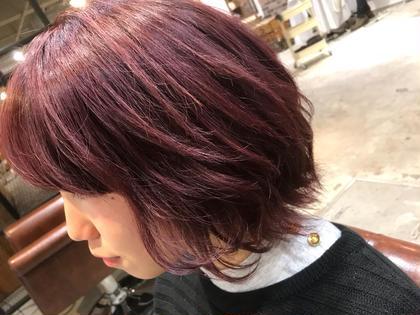 カラー ショート ブリーチ1回‼️  ラベンダーピンクで春髪に✨