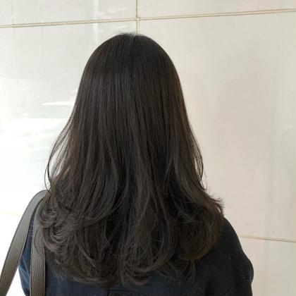 ✂︎カット+透明感と抜け感バツグンの暗髪カラー+ヴェールトリートメント✂︎