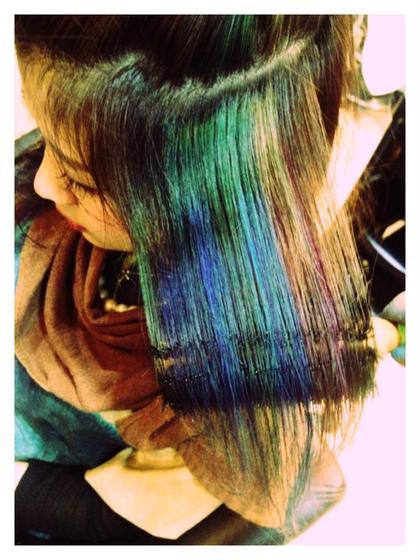 ターコイズブレンド  鮮やかなターコイズグリーンと、海のようなブルーグリーンを織り交ぜたカラーデザイン MODE  Ks所属・井上純一のスタイル