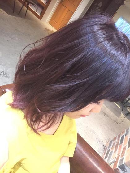 カラー ショート ナチュラルグラデーション✨ ラベンダーピンク‼️大人気です✨