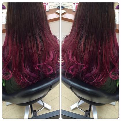 リアルマーメイドでしょ◎ ブリーチ必要です! よーくみると紫ピンクと いろいろはいってるんです! この夏ハイトーンで 遊びましょう☆ NOAbykenje所属・kyuhiのスタイル