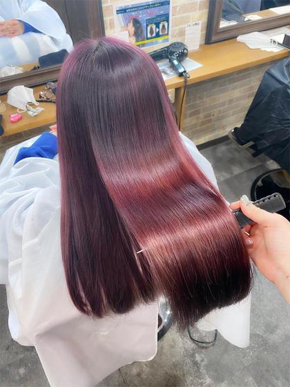 🤍超音波アイロン🧸髪質改善メニュー🧸イルミナorアディクシーカラー+AujuaTR🤍〈¥8,000〉