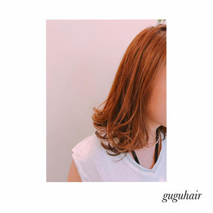 外ハネ✴︎THROWベージュブラウン12トーン gu gu hair所属・gu gu hairMATSUのスタイル