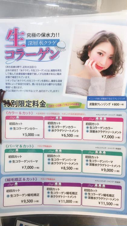 シオンcore店所属の内堀伊代菜のヘアカタログ