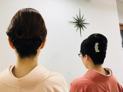 和装のヘアセットも受け付けております。 クアトロ水戸店所属・菊池若葉のスタイル