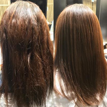 【縮毛、2回目以降はこちら】毛髪技能士が担当!!髪質改善カット+縮毛矯正&3stepトリートメント