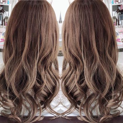 夏定番カラー✨ 上原基暉のロングのヘアスタイル