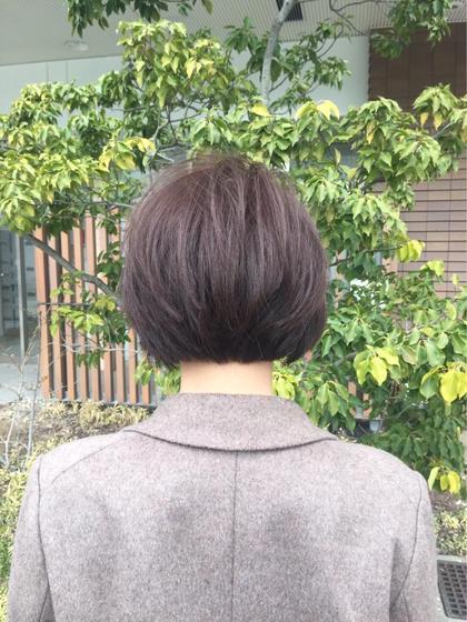 首元すっきりショートボブ efesto三条店所属・松浦誠也のスタイル