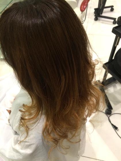 ナチュラルカラーのグラデーション★ hairmakeEARTH岐阜店所属・新川はる菜のスタイル