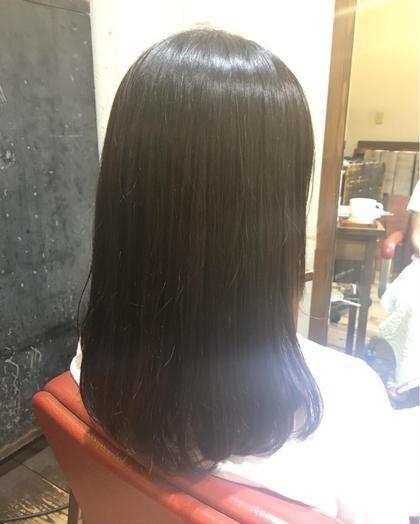 専門学生のモデル様(^^)/  縮毛矯正さしていただきました!  ツヤサラで朝も楽チン( ´ ▽ ` )ノイェア   florent所属・井筒幸大のスタイル