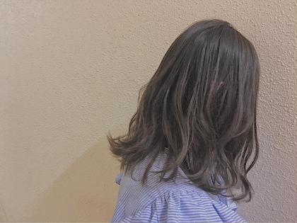 ナカイユナのミディアムのヘアスタイル