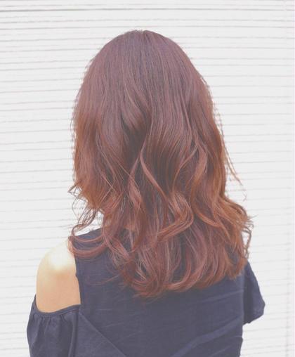 今秋のオススメベリーピンク✨ Hair&Make EARTH 長久手店所属・古畑佑悟のスタイル