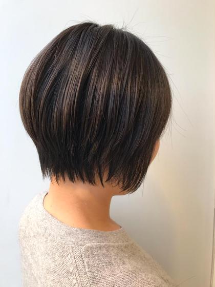 ショートヘアのふんわりボリュームアップパーマ(^^)