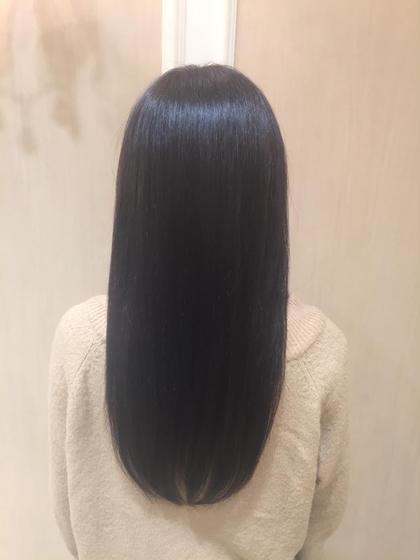 髪質に合わせたお薬でさらさらストレートに Ash中目黒店所属・榊間茜のスタイル