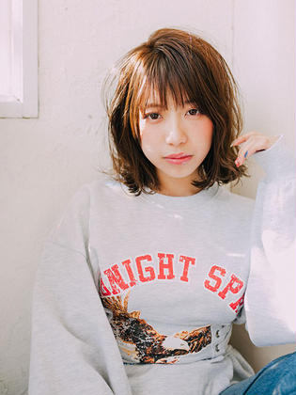 💎前髪カット+艶カラー💎