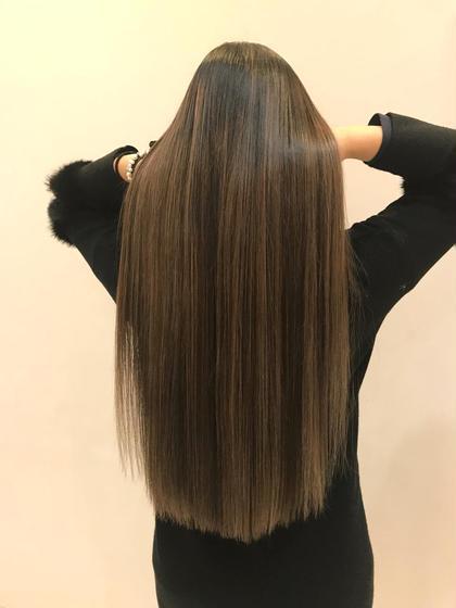 【極上の艶髪】髪質改善+艶カラー