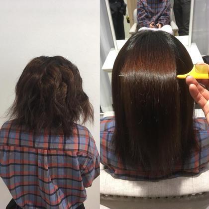 髪質改善縮毛矯正の講習会での一枚✨このモデル様はブリーチ履歴、黒染め履歴、縮毛矯正履歴ありのお客様でした。 💘髪質改善No1.LetizbyONE's💘所属・⭐️髪質改善美容師スズキカノト⭐️のスタイル