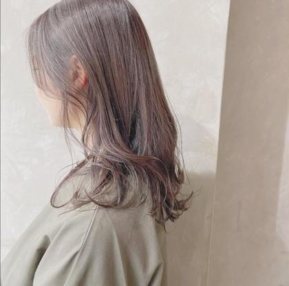 【前髪カット付き💖】前髪カット+イルミナorアディクシーカラー+卵殻トリートメント付き