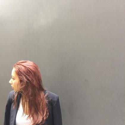 カラー ショート セミロング パーマ ヘアアレンジ ミディアム ロング ピンクベージュウエットヘア