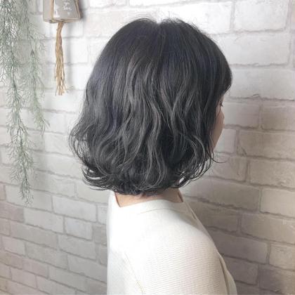 💇透明感カラー+艶トリートメント